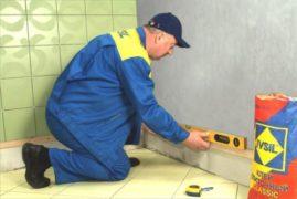 Подготовка основания для укладки кафельной плитки