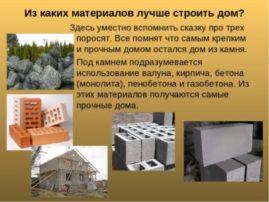 Лучшие материалы для строительства дома