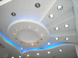 Потолок из гипсокартона, его достоинства