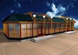 Алюминиевые торговые павильоны являются масштабируемой структурой