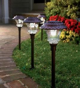 Светильники газонные, светодиодные садовые светильники