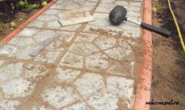 Как отремонтировать плитку на дорожке