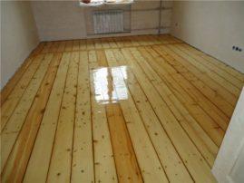 Ремонт деревянных полов в доме