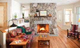 Используем камин в дизайне помещения