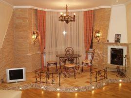 Кованные изделия в интерьере спальни и гостиной