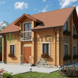 Проекты домов из оцилиндрованного бревна: лучший выбор для загородного коттеджа
