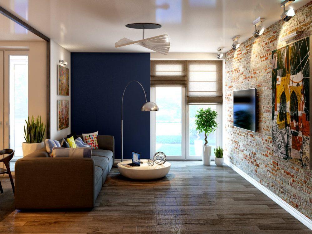 Современные апартаменты в стиле лофт