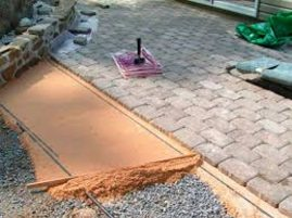 Технологии укладки тротуарной плитки.